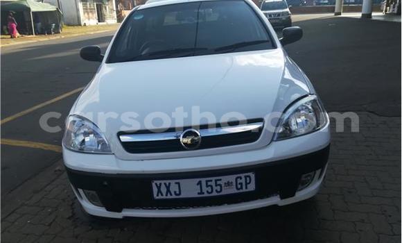 Buy Used Opel Corsa White Car in Butha–Buthe in Thaba-Tseka