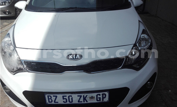 Buy Used Kia Rio White Car in Peka in Leribe